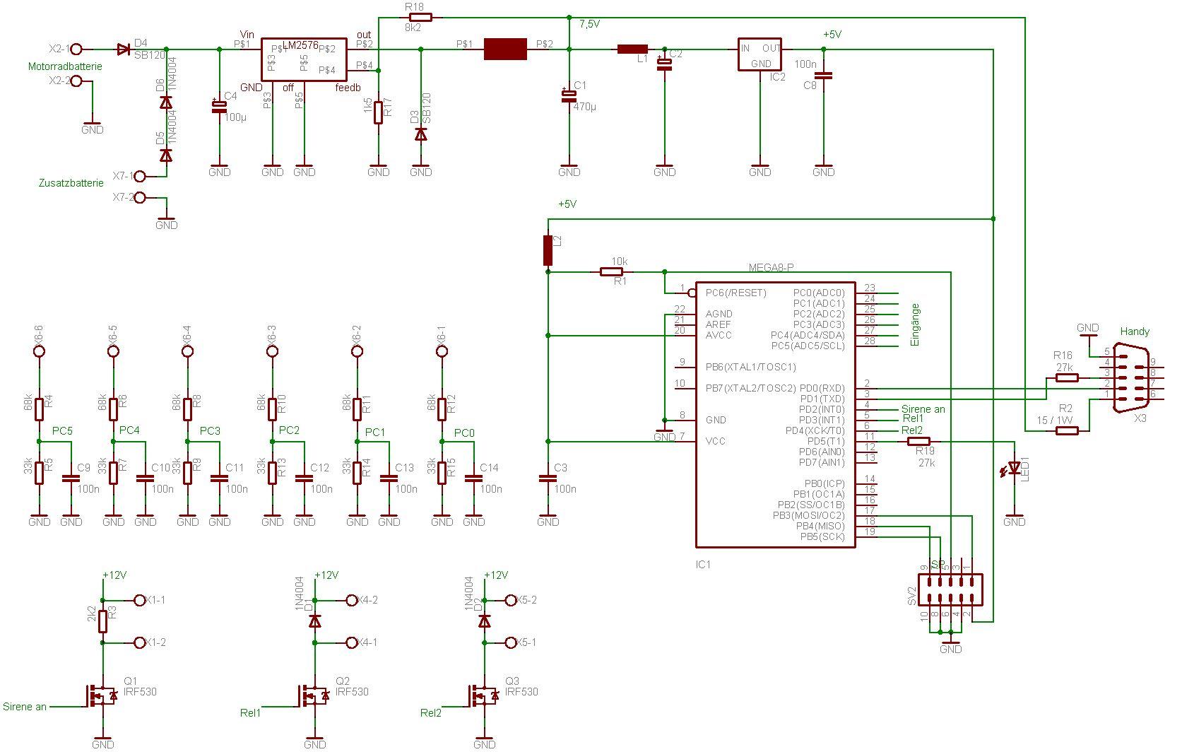 bewegungsmelder schaltung elektronik schaltung bewegungsmelder 39 cerberus 39 elektronik und e. Black Bedroom Furniture Sets. Home Design Ideas